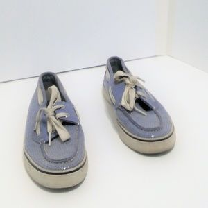 Sperry top-sider loafer blue w/ sequins Womens 6.5